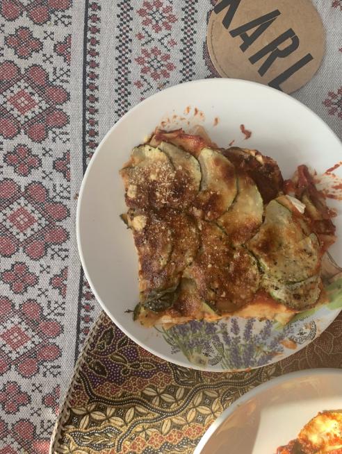 Вегетарианская лазанья с цукини