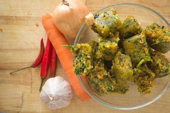 Натуральные овощные бульонные кубики